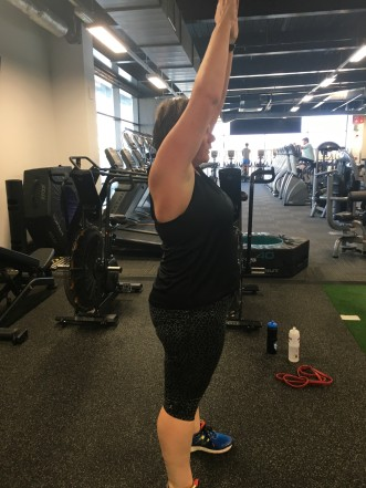 Stretch in the gym