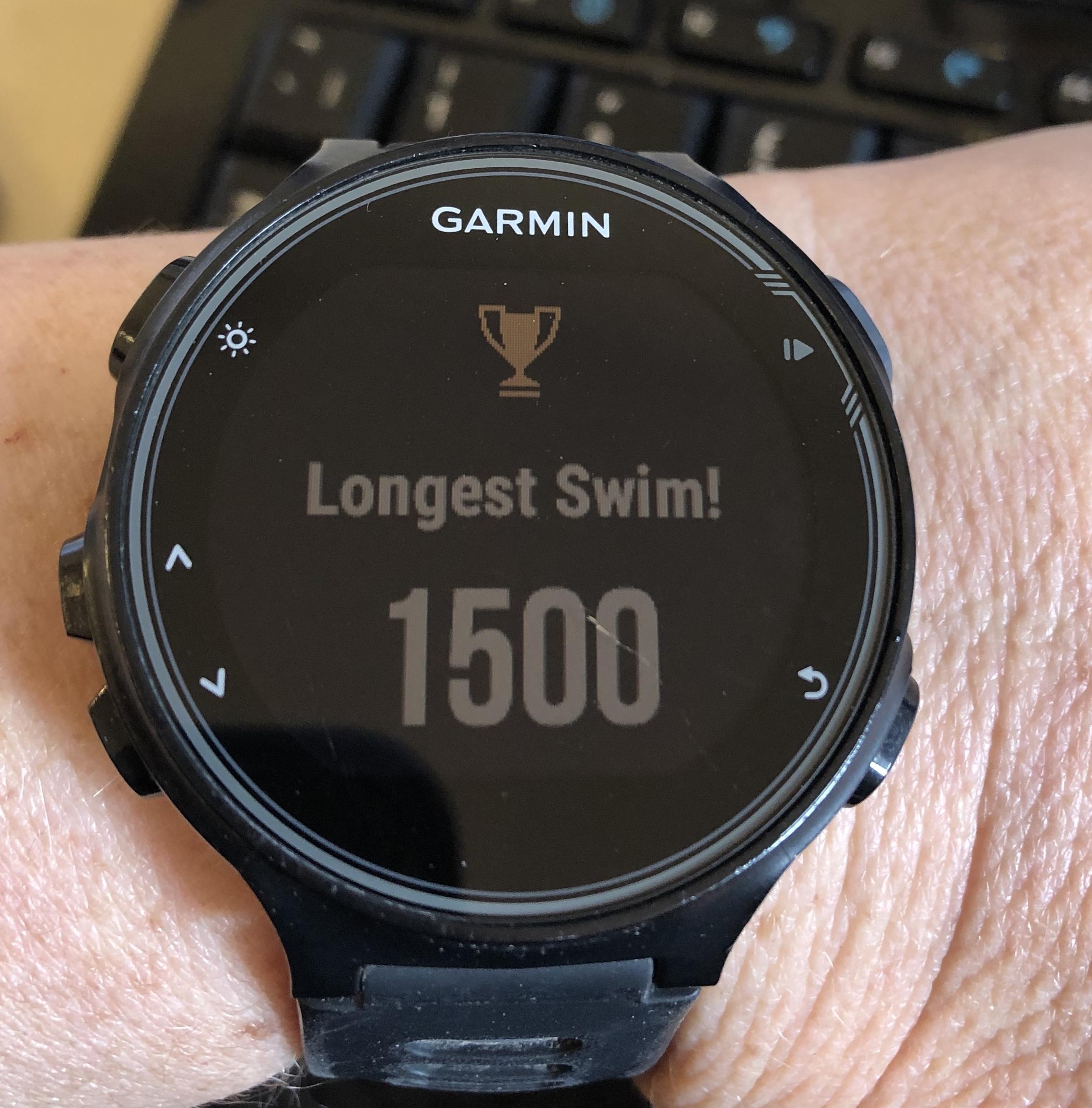 Watch 1500m swim