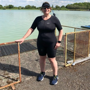 Tri Suit by the lake